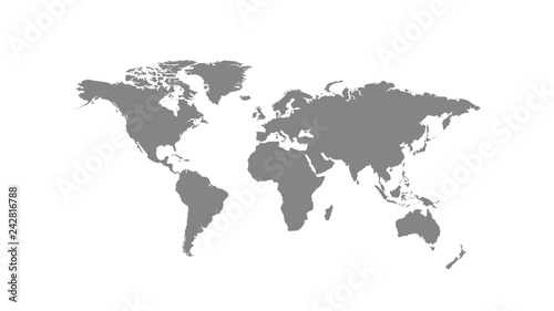 Photo Stands World Map Grey world map