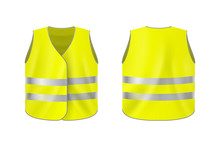 Realistic Reflective Vest, Fro...
