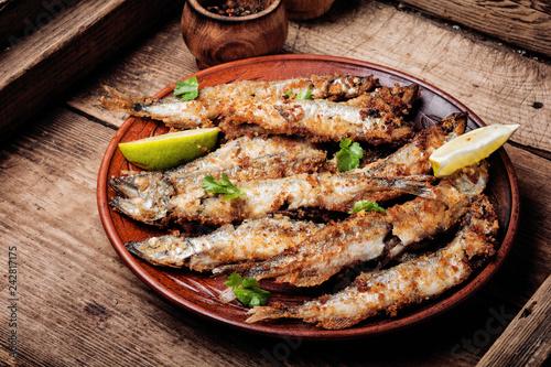 Fototapeta Deep fried fish obraz