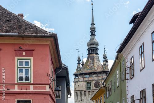 Fotografie, Obraz  Street view in Sighisoara, medieval town of Transylvania, Romania