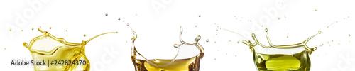 Fotografia oil splash collection isolated on white
