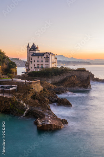Brave and nice coast from Biarritz at the Basque Country. Canvas Print