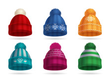 Winter Knitted Hat Set