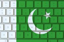 Pakistan Flag And Computer Key...