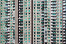 High Density Residential Flat Buildings In An Industrial Urban City