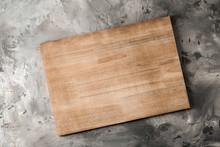 Wooden Kitchen Board On Grey B...