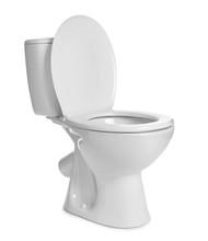 Clean Toilet Bowl On White Background