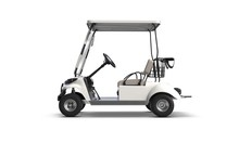 3D Render Of Golf Cart Isolate...