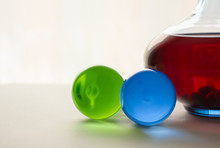 Two Glass Spheres And A Decant...