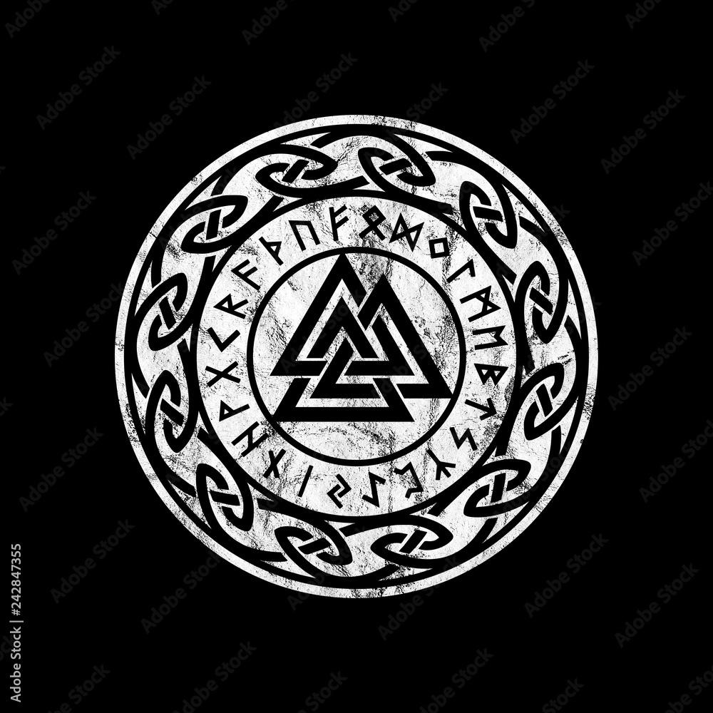 Photo Art Print Valknut Odin Symbol Europosters