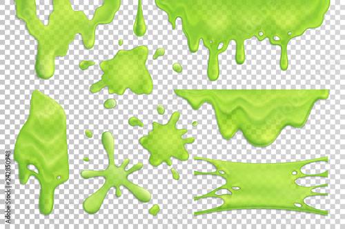 Valokuva  Slime Drips Realistic Set