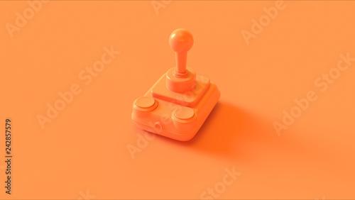 Orange Retro Wireless Joystick 3d illustration 3d render