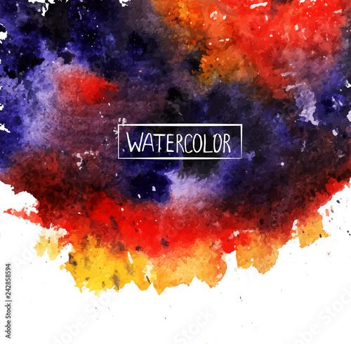 Fotografie, Obraz watercolor, beautiful abstract background,colored spots vector,handmade, orange,