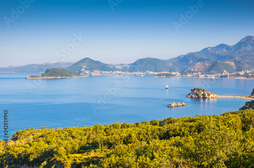 Fantastic view of the small islet Sveti Stefan.