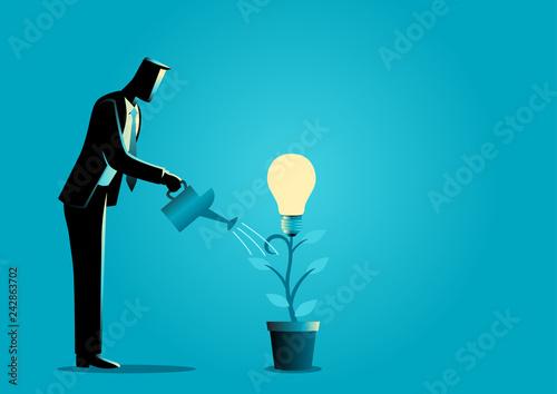 Obraz na płótnie Creating ideas, business creative idea concept