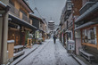 京都 八坂の塔 雪景色