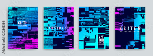 Fototapeta Set of abstract background cover designs