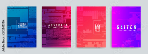 Fotografie, Obraz Set of abstract background cover designs