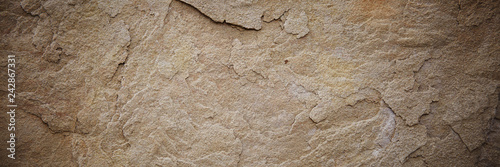 Montage in der Fensternische Steine Textured stone sandstone surface. Close up image