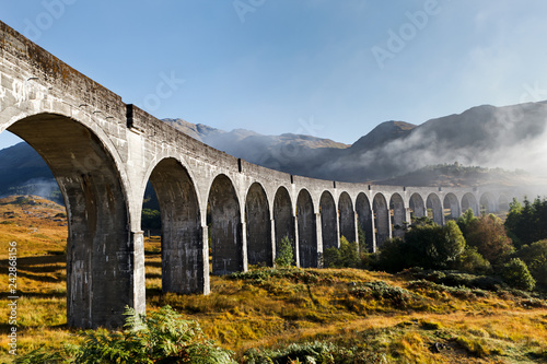 Glenfinnan Viaduct in West Scottish Highlands Wallpaper Mural