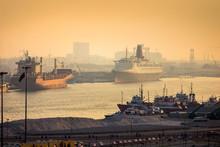 Dubai Port View At Sunset