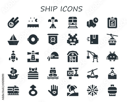Fotografie, Obraz  ship icon set