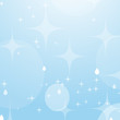 Light blue abstract background with stars and bokeh. Beautiful sky. Simple flat vector illustration.