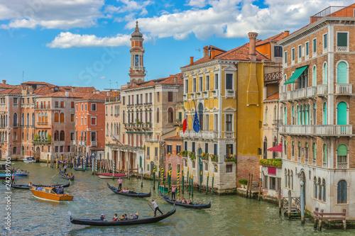 Obraz Canal Grande, Wenecja, Włochy, Europa - fototapety do salonu