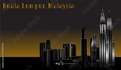 Photo Vector City of Kuala Lumpur, Malaysia