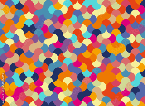 Pieces in a Puzzle Abstract background for design - Vector