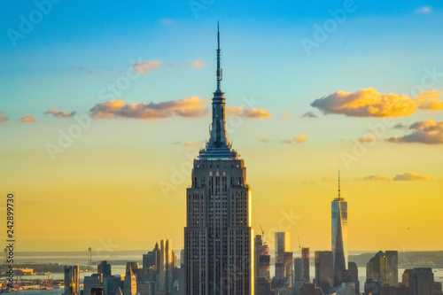 Foto op Canvas New York New York City skyline during the sunset from the Top of the Rock (Rockefeller Center), United States