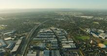 Aerial Sunrise View Melbourne Airport Corporate Smartpark Tullamarine