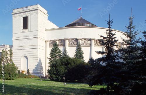 Plakat Polskie miasta   sejm-house-of-parliament-wiejska-street-poland
