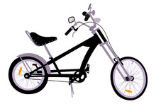 Detailed Chopper Bicycle Vecto...