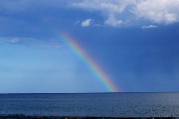 rainbow on the sky