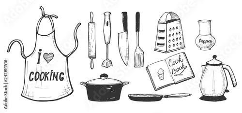 Stampa su Tela kitchen utensils and kitchenware