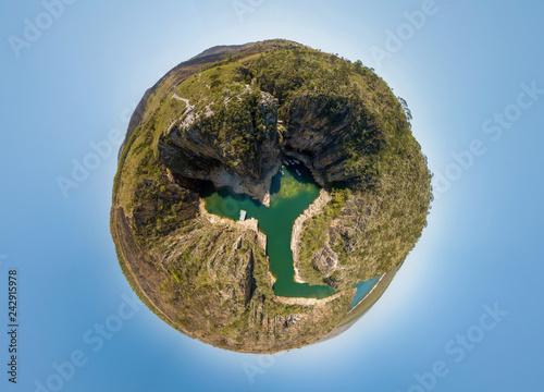 Fotografie, Obraz  Little Planet of Canyon Viewpoint (Mirante dos Canyons), Capitolio, Minas Gerais