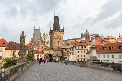 Ingelijste posters Praag Prague, Czech Republic - August 25, 2018: The churches and castles of Prague
