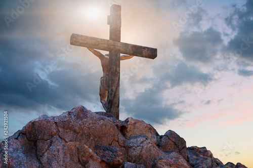 Tela Jesus Christ on the cross, 3d render