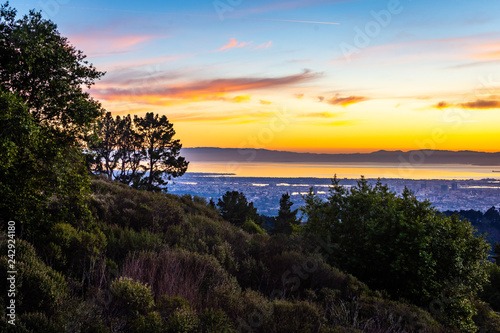 Canvas Print Sunset from Grizzly Peak
