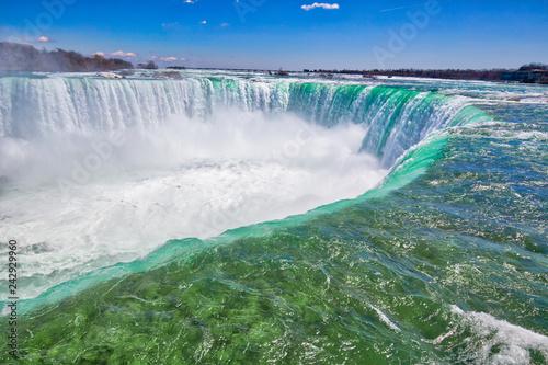 Fotografia Canada, Scenic Niagara Waterfall, Horseshoe Falls, Canadian side