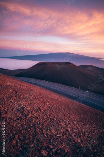Türaufkleber Hochrote Mauna Kea Sunsets