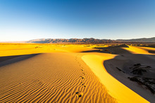 Sunrise Over The Mesquite Flat Sand Dunes