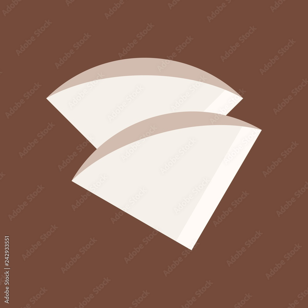 Fototapeta Coffee filter vector, coffee related flat style icon