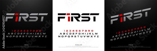 Fotografie, Obraz sport modern alphabet fonts