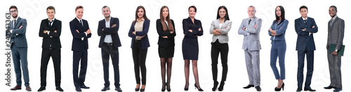 Fototapeta group of successful business people isolated on white obraz