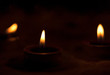 World Religion Dayconcept:Many burning candles with shallow depth of field