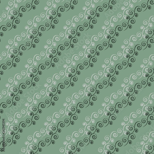 Fotografie, Obraz  Abstract twig seamless pattern