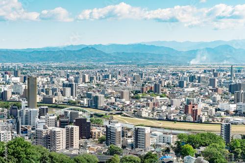 Fototapete - 都市風景 熊本市