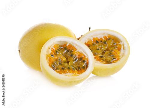 Fotografie, Obraz  Passion fruit isolated on white background.